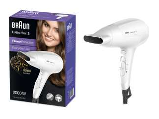 Braun Satin Hair 3 PowerPerfection Haartrockner HD380 mit Ionentechnologie 5