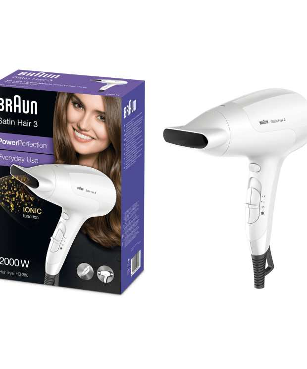 ullrichstore.com Braun Satin Hair 3 PowerPerfection Haartrockner HD380 mit Ionentechnologie 5