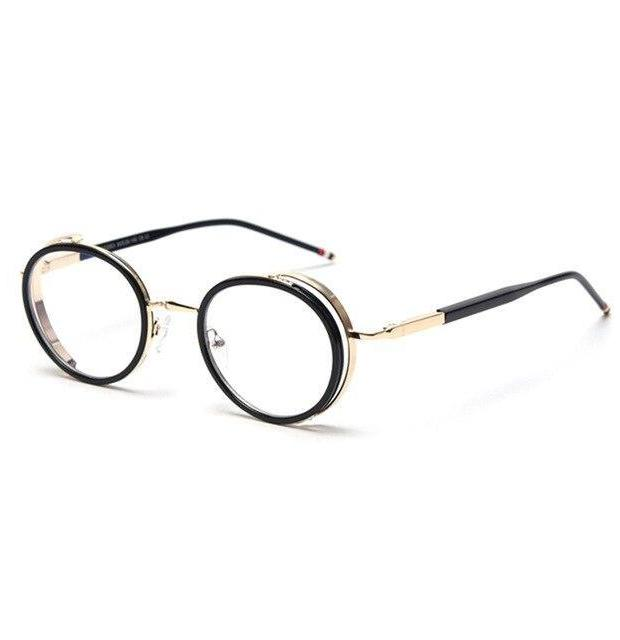 Blaulichtfilter Retro Brille Gold
