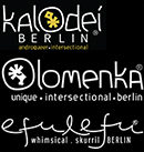 logos of the brands Kalodei Berlin, Olomenka & Efulefu