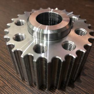 Billet toothed belt pulleys