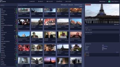 La vue Assets: les vidéos importées