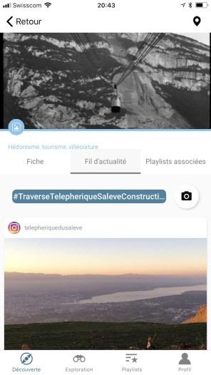 Le flux d'images en provenance d'Instagram en lien avec la fiche