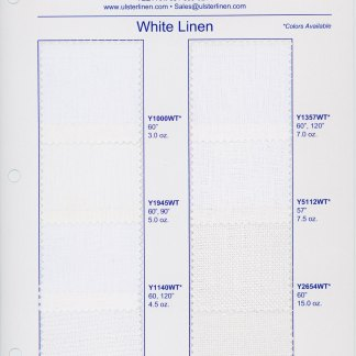 White Linen Swatch Card Range
