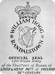 Official Seal of the Trustees of the board of linen and Hemp Mfrs. of Ireland 18th Century