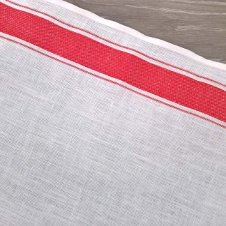 Red Border Toweling