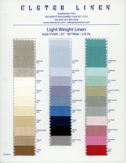 Y1000 Light Weight Linen Fabric