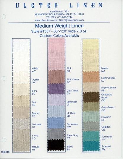 Medium Weight Linen Fabric