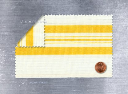 Yellow Pinstripe Toweling - Y1357YLBPNWT