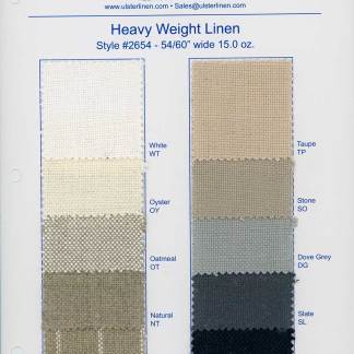 Heavy Weight Linen Swatches