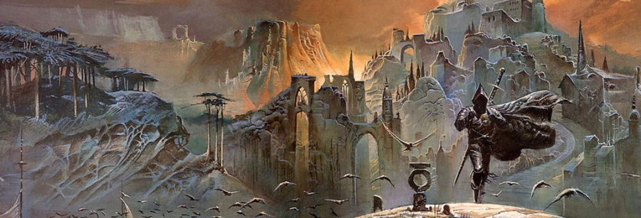 Detail from Bruce Pennington: The Shadow of the Torturer, (c) Bruce Pennington