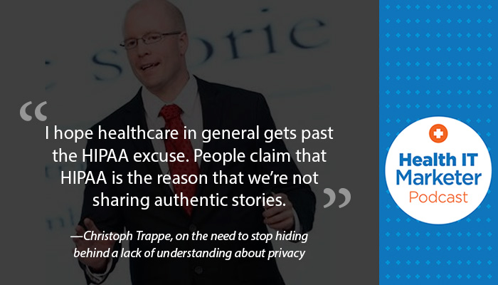 Christoph Trappe on the Health IT Marketer Podcast