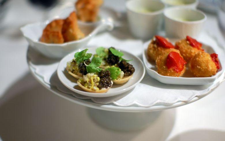 Caviar and Boiled Egg Tart