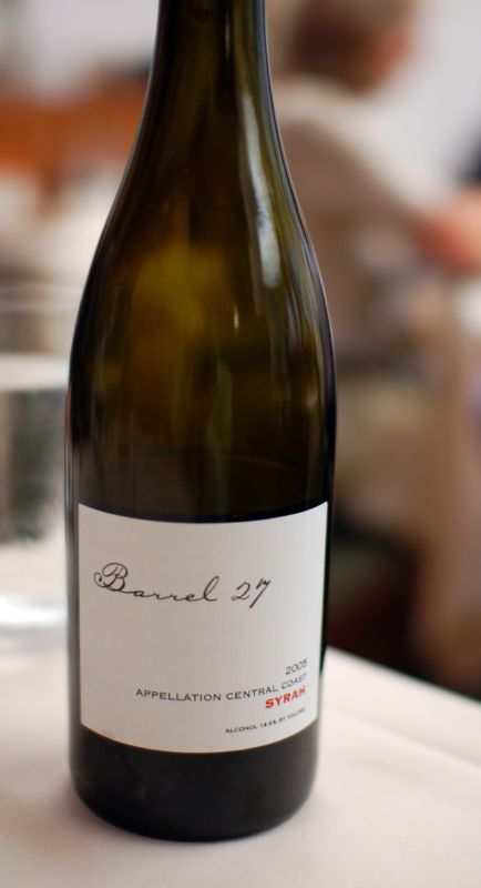 Barrel 27, Syrah, 2005