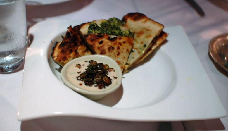 Spinach Goat Cheese Paratha