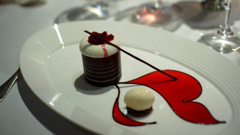 Bitter Chocolate and Hazelnut Cylinder