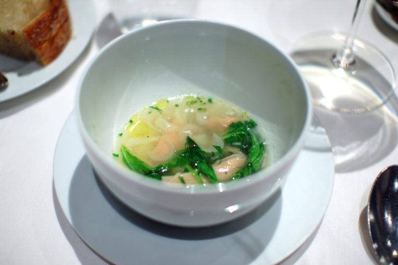 """3rd Course: Rabbit """"Conserva"""" and Root Vegetable """"Brodo"""""""