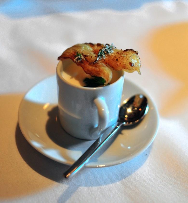 6th Pre-Dinner: Turnip and Foie Gras Royale