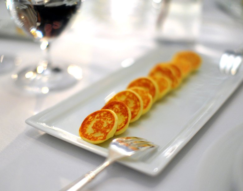1st Course: Sterling Royal Caviar Potato Blini