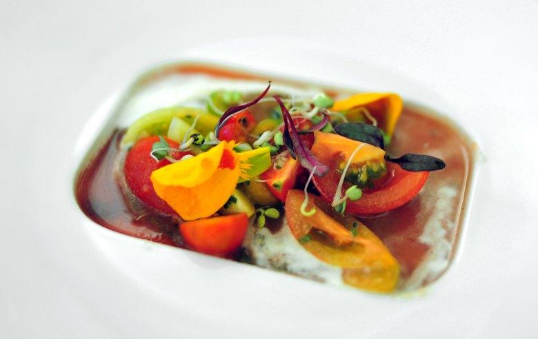 1st Course: Eckerton Hill Heirloom Tomato Salad