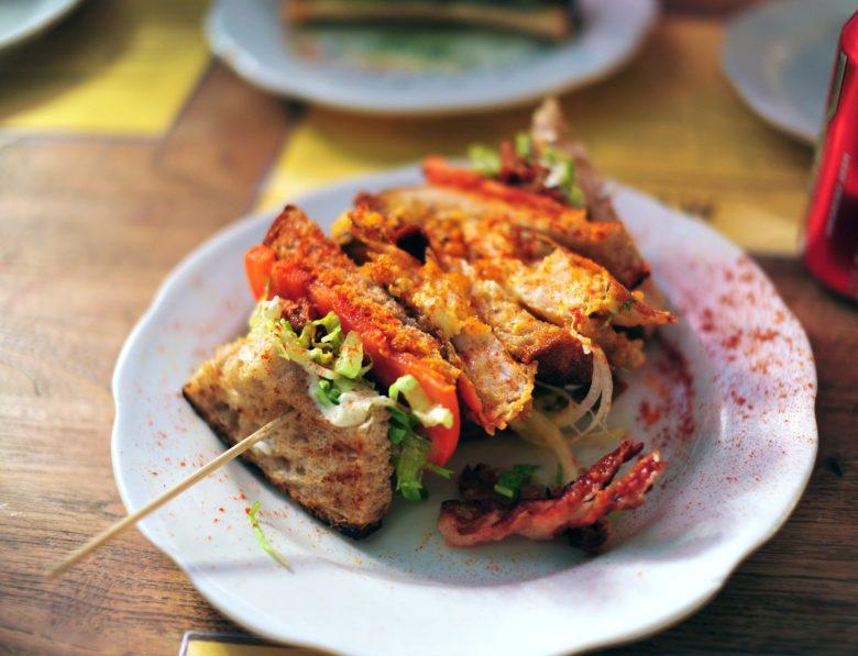 Soft-Shell Crab Club Sandwich