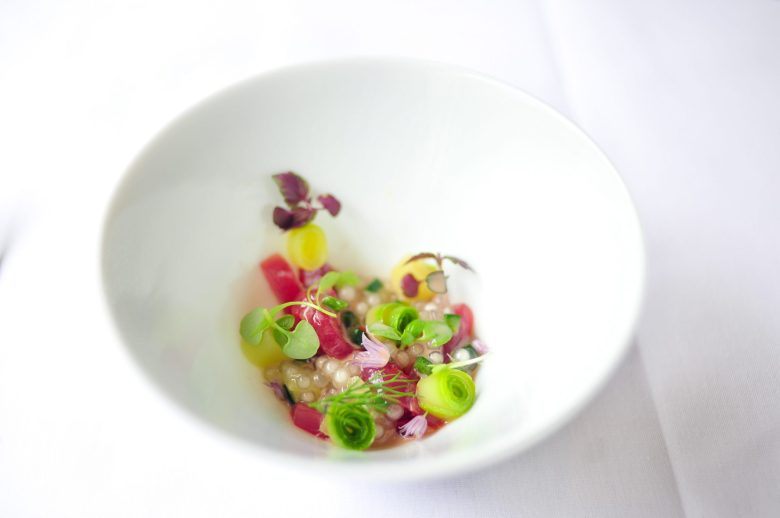 1st Course: Sashimi of Tuna
