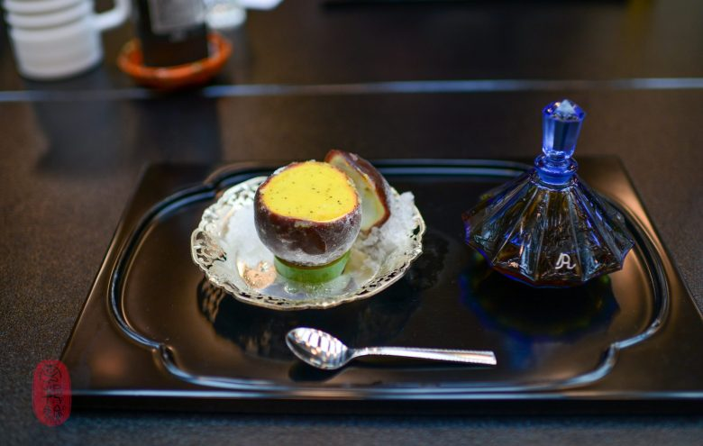 9th Course: Passionfruit Sorbet