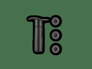 Pompe à vin + 3 bouchons noir – Le Creuset