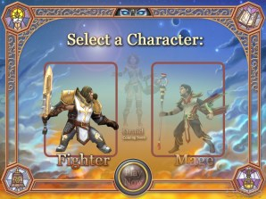Alpha character selection