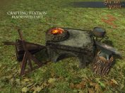 Blacksmithing table