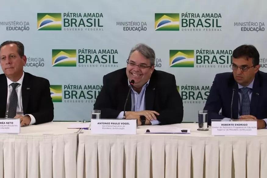 Antonio Paulo Vogel de Medeiros é o ministro interino da Educação