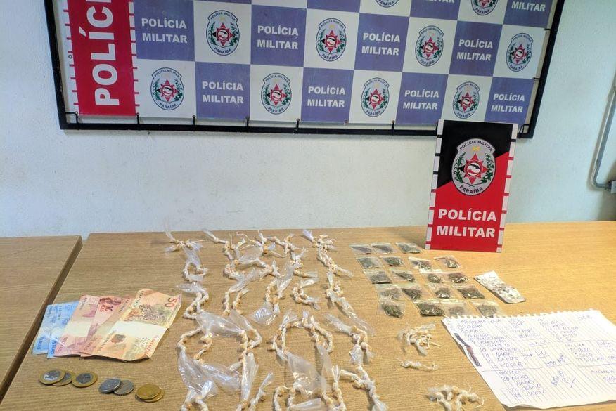 Polícia Militar apreende quase 300 embalagens com drogas em Bayeux