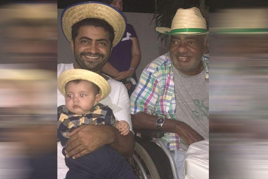 """Filho de Pinto do Acordeon diz que pai se curou de câncer na bexiga, mas descobriu doença no pulmão: """"foi enfraquecendo ele"""""""