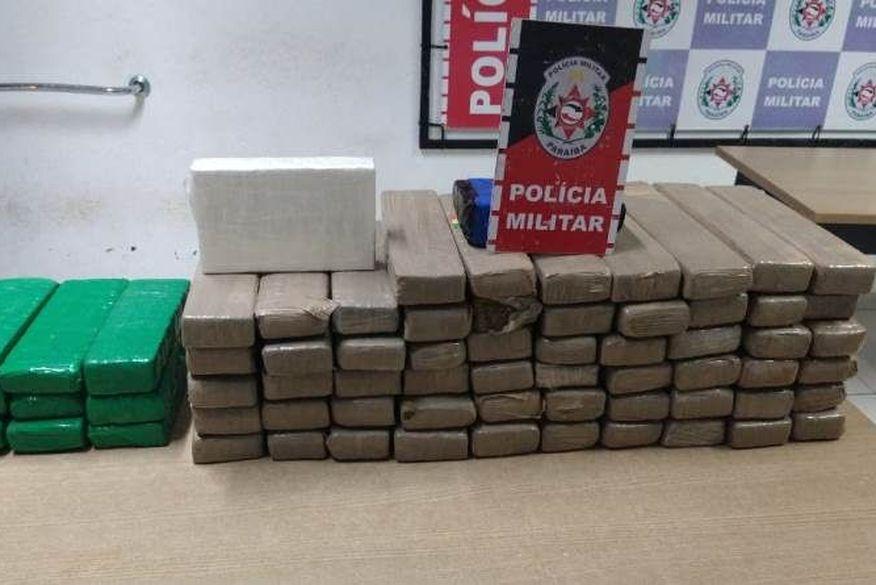 Foragido da Justiça é recapturado com quase 60 quilos de drogas em João Pessoa