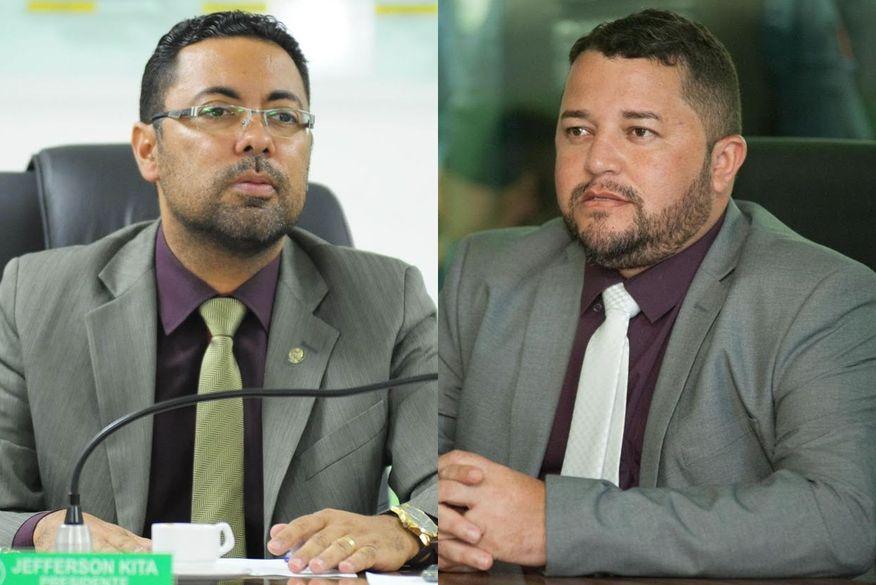 Jefferson Kita e presidente da Câmara, Inaldo Andrade, protocolam chapas para disputar cargo de prefeito na eleição indireta de Bayeux