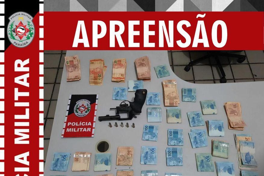 Após campana, policiais militares prendem homens e recupera mais de R$ 30 mil roubados de estabelecimento comercial no Sertão