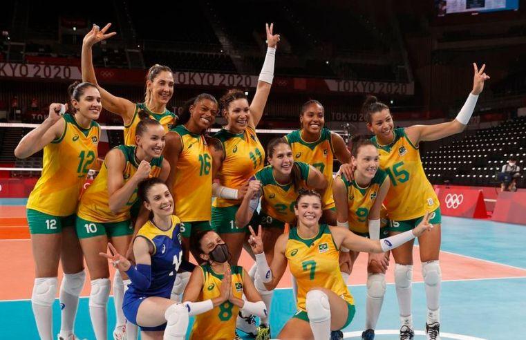 Seleção brasileira de vôlei feminino vence Quênia e pegará Rússia nas quartas
