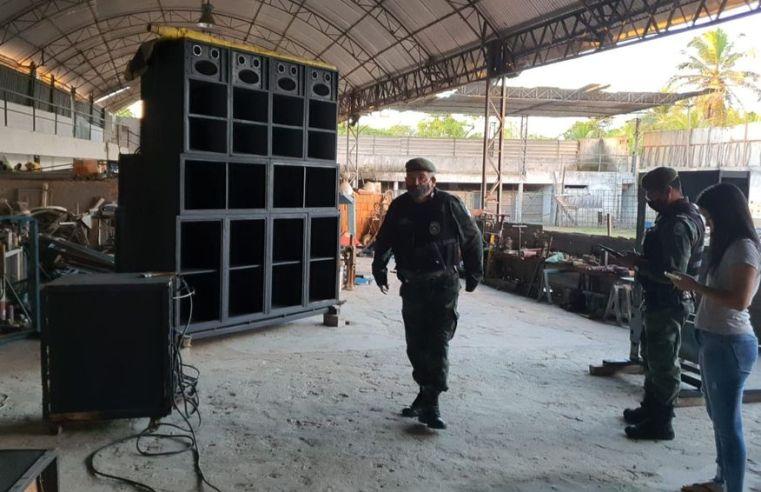 Operação Sossego apreende seis aparelhos de som no final de semana e multas chegam a R$ 20 mil na Paraíba