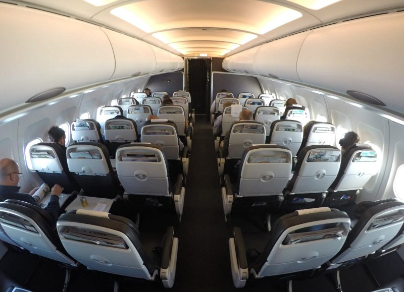 Cabina de business class british Airways A321