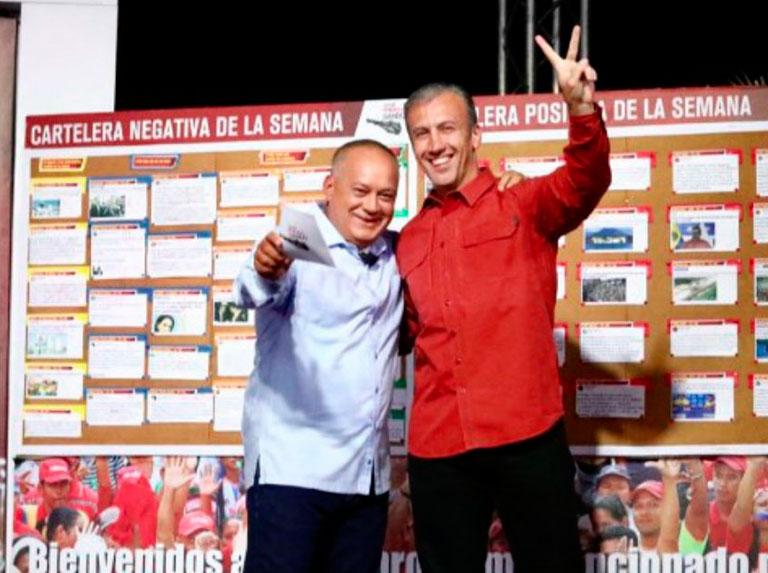 Diosdado y El Aissami anuncian progresos en su recuperación