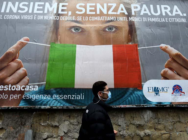 Italia se blinda ante un fuerte repunte casos, 27.000 en el último día