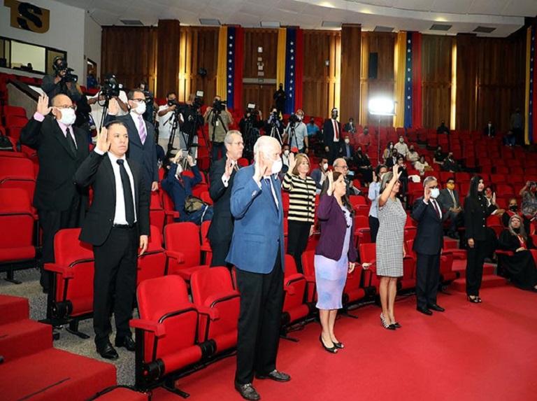 Presidente del TSJ juramentó nuevos rectores del CNE