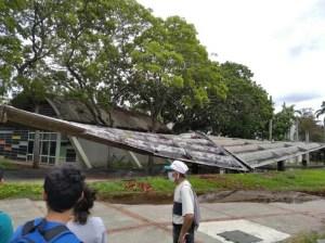 Inician reparación de losas que colapsaron en corredor de la UCV