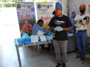 They carried out a sterilization session for animals in Aragua