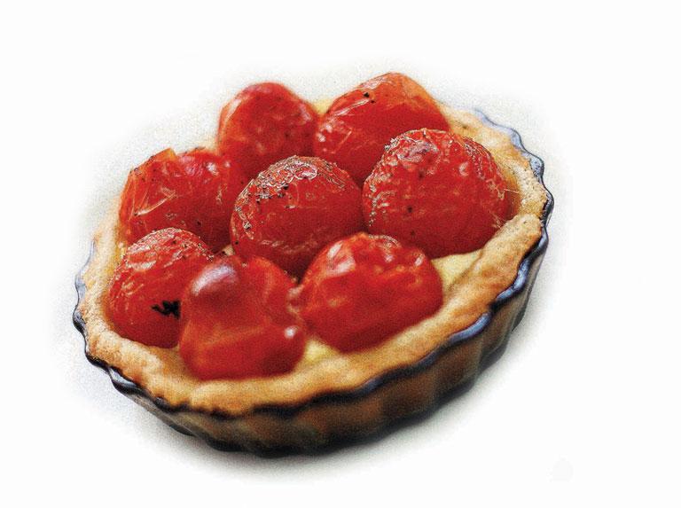 Tartaleta de tomates cherry y queso de cabra