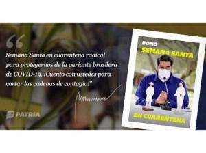 Inicia entrega del Bono Semana Santa en Cuarentena