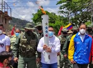 En El Rodeo inició el recorrido del fuego independentista en Miranda
