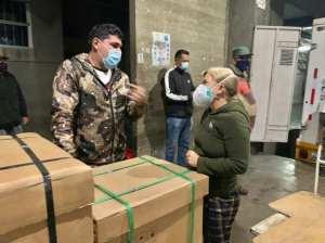 Entregan equipos al Hospital Universitario de los Andes para área covid