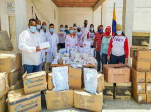 They provide medical supplies to the CDI Hugo Chávez in Porlamar