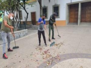 En Plaza les sale trabajo voluntario a quienes violen la bioseguridad